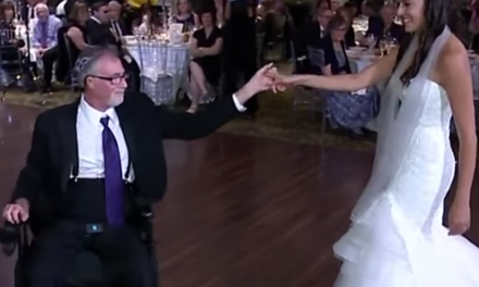 A father's gift to his daughter: Wheelchair wedding dance to remember