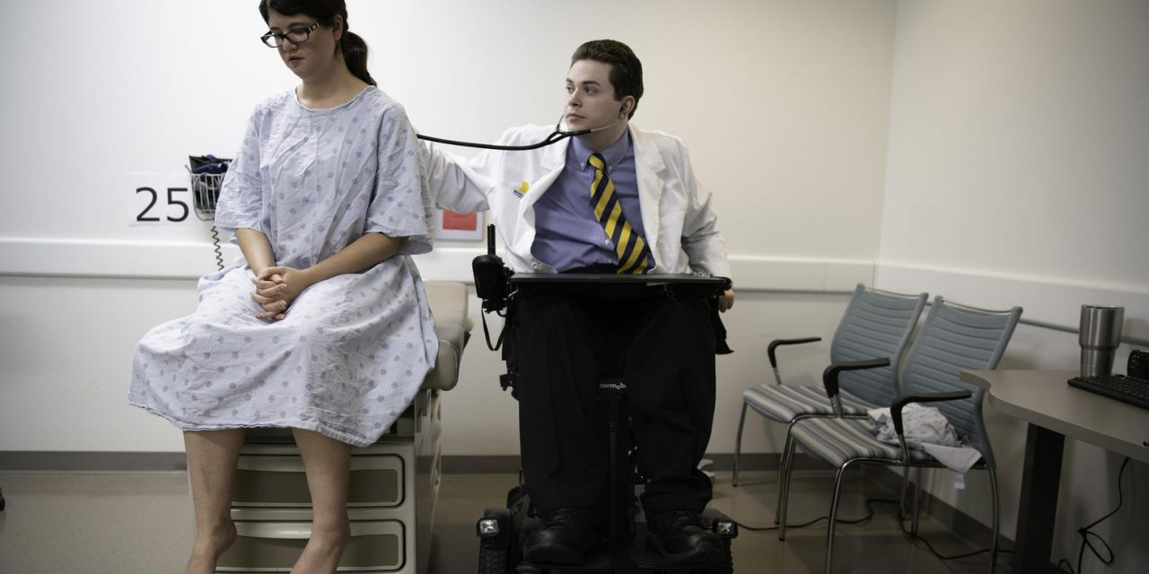 Chris Connolly is a brilliant medical student. He's also a quadriplegic