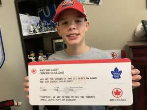 Cancer survivor Brock Chessell meets Toronto Maple Leafs