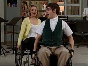 glee singes in wheelchair